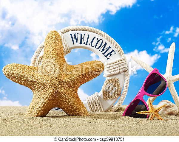 Welcome to the beach - csp39918751
