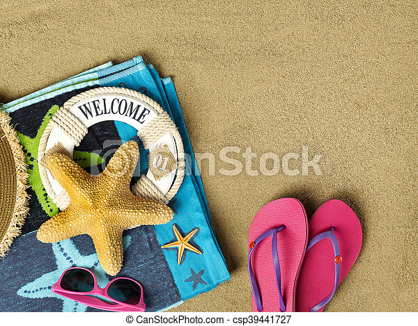 Welcome to the beach - csp39441727