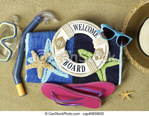 Welcome to the beach - csp45859630