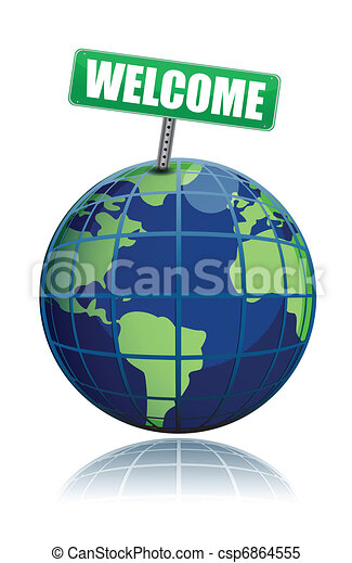 welcome to the world illustration - csp6864555