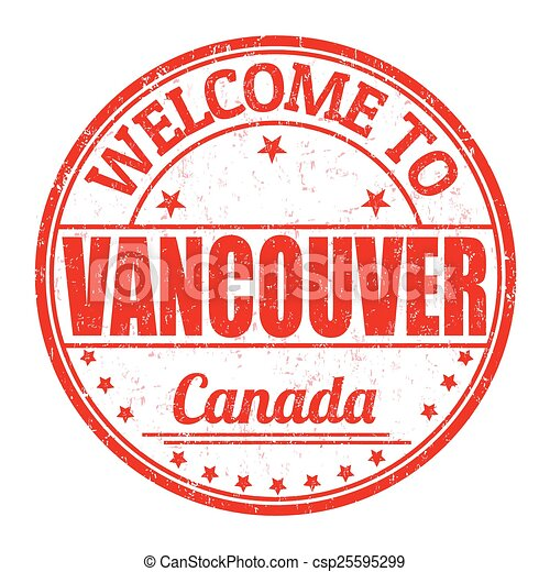 Welcome to Vancouver stamp - csp25595299