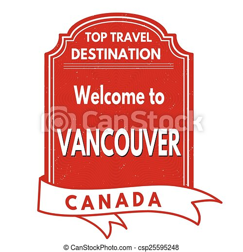 Welcome to Vancouver stamp - csp25595248