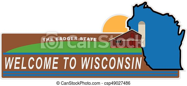 Welcome to Wisconsin - csp49027486