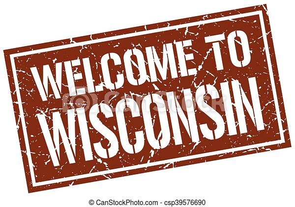 welcome to Wisconsin stamp - csp39576690