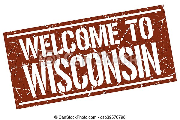 welcome to Wisconsin stamp - csp39576798