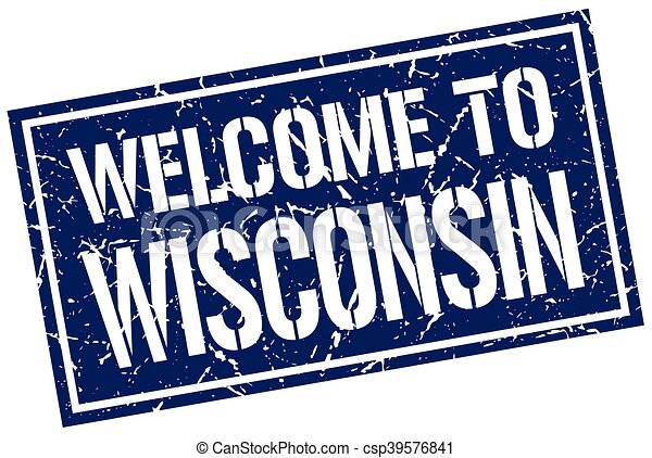 welcome to Wisconsin stamp - csp39576841
