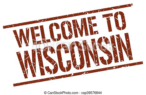 welcome to Wisconsin stamp - csp39576844