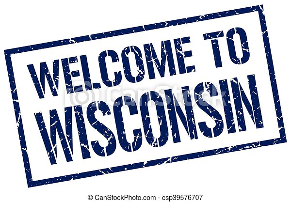 welcome to Wisconsin stamp - csp39576707