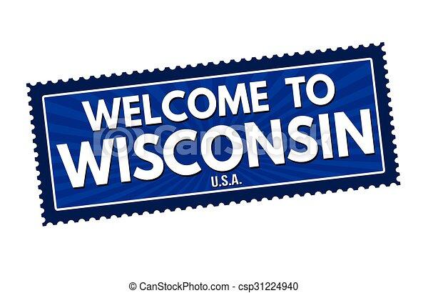 Welcome to Wisconsin travel sticker - csp31224940