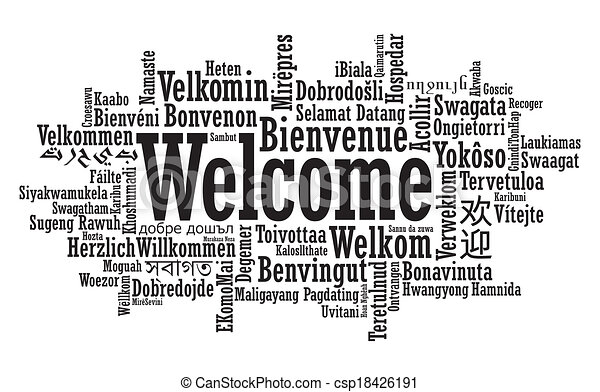 Welcome Word Cloud illustration - csp18426191