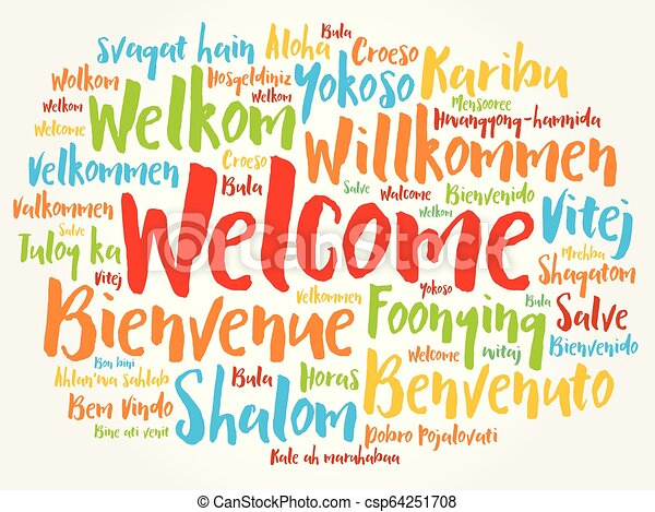 WELCOME word cloud in different languages - csp64251708