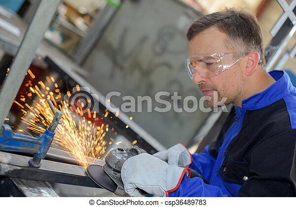 welder at work - csp36489783