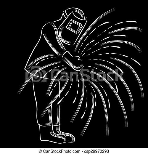 Welder Creates Sparks - csp29970293