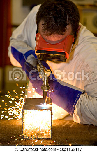 Welder Cutting with Flame - csp1162117
