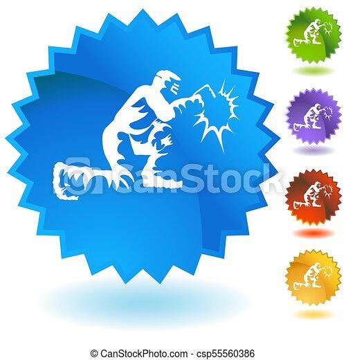 Welder Welding Industrial Work Button - csp55560386