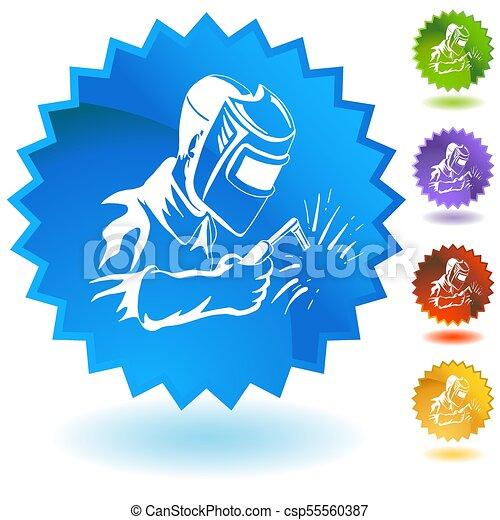 Welder Welding Industrial Work Button - csp55560387