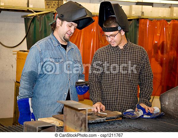 Welders Discussing the Job - csp1211767