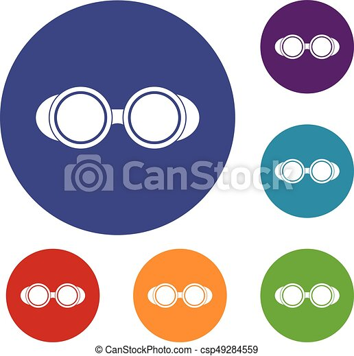 Welding glasses icons set - csp49284559