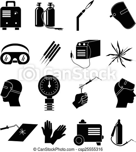 Welding industrial work icons set. Welding industrial work ... | 418 x 470 jpeg 31kB