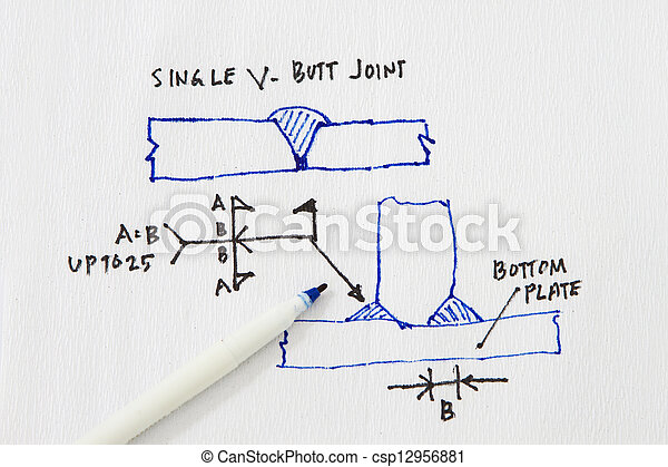 Welding Symbols Sketch On A Napkin Abstract