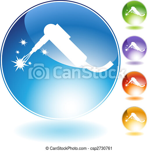 Welding Torch Crystal Icon - csp2730761
