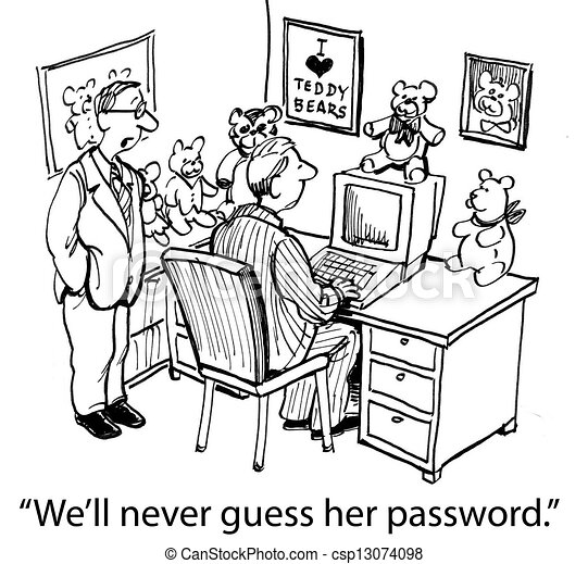 We'll never guess her password if it's a bear - csp13074098