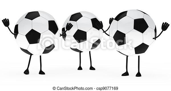 Welle Fussball Figur Hande