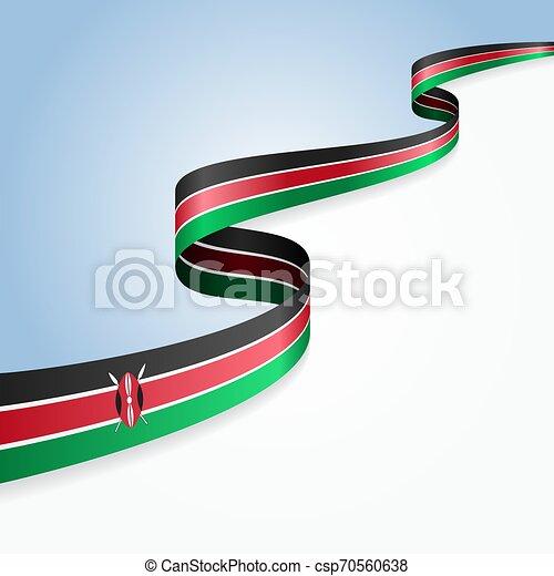 Kenianische Flagge wavy abstrakten Hintergrund. Vector Illustration. - csp70560638