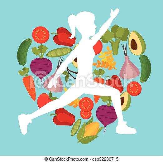 Wellnees lifestyle graphic - csp32236715