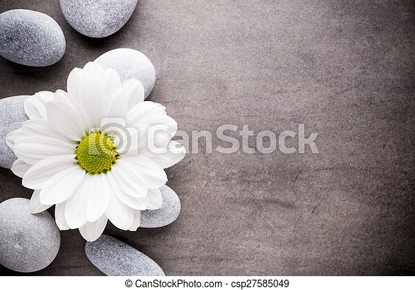 Wellness background  Wellness background. Spa stones treatment scene, zen like concepts.