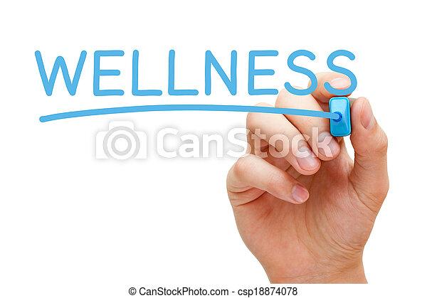Wellness Blue Marker - csp18874078