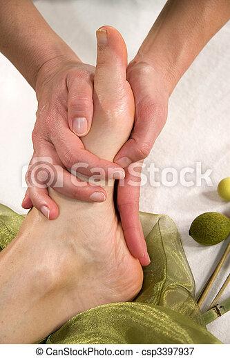 Mature showing feet