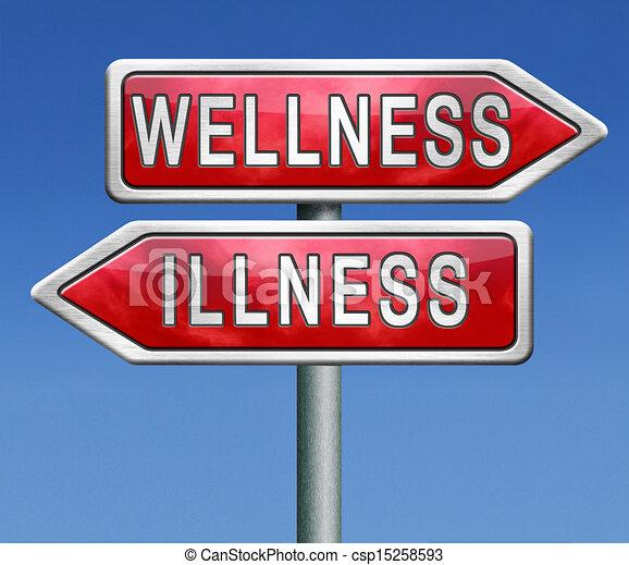 wellness or illness - csp15258593