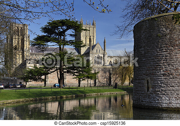 Wells Cathedral - Wells - England - csp15925136