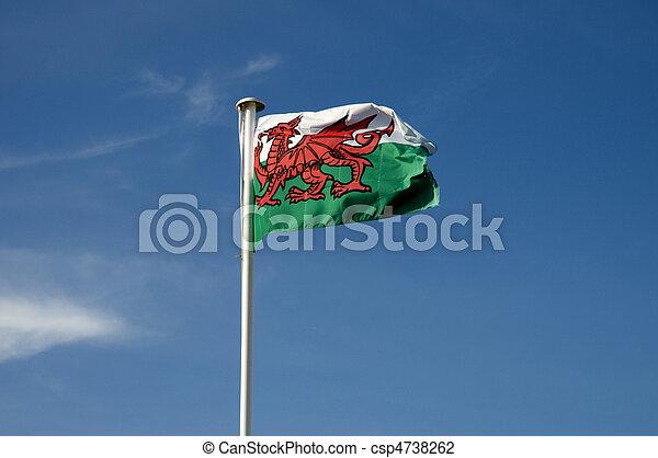 Welsh Flag - csp4738262