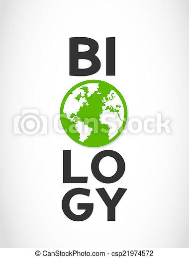 Biologisches Wort und Weltsymbol - csp21974572