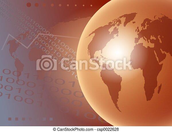 welt globus - csp0022628