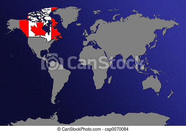 Weltkarte Kanada