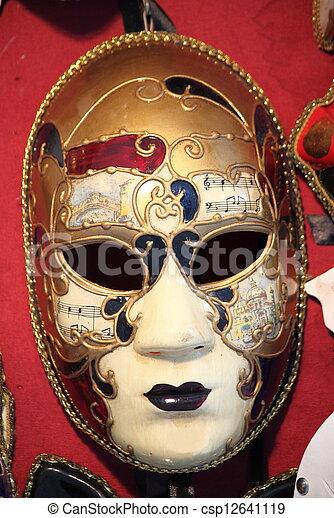 wenecka maska, karnawał - csp12641119