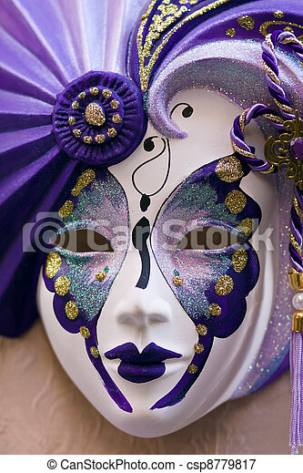 wenecka maska, karnawał - csp8779817