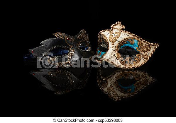 wenecka maska, karnawał - csp53298083