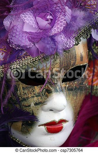 wenecka maska, karnawał - csp7305764