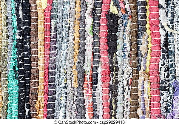 Teppich bunt gestreift  Stock Fotografie von wenig, gemacht, bunte, stücke, gestreift ...