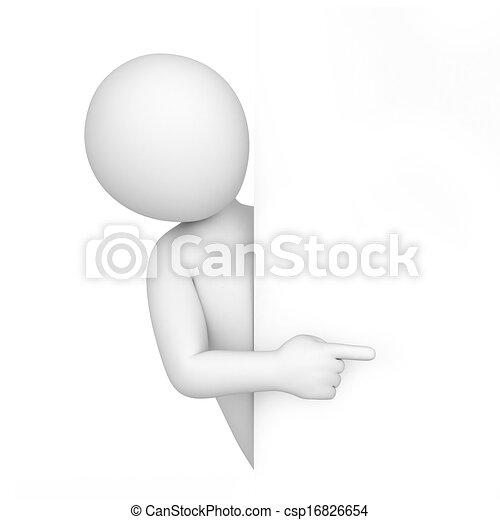 wenig, punkte, finger, menschliche , 3d - csp16826654