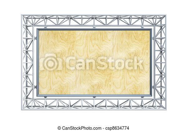 Moderne Plakatwand - csp8634774