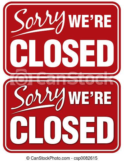 Siento haber cerrado - csp0082615