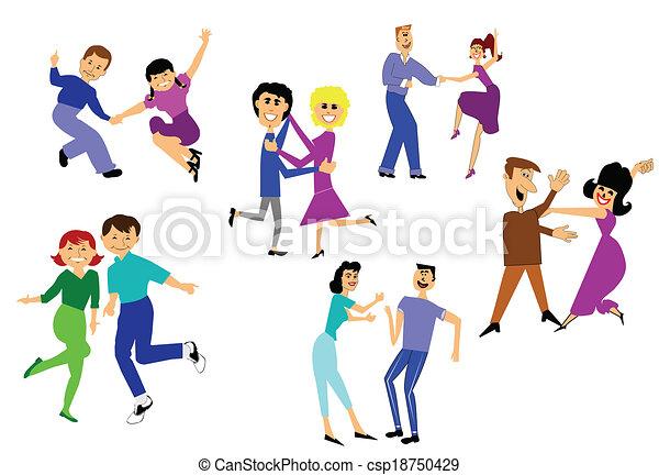 Were having a dance party retro couple dancing vector were having a dance party vector sciox Choice Image