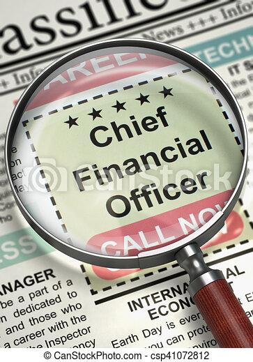 We're Hiring Chief Financial Officer. 3D. - csp41072812