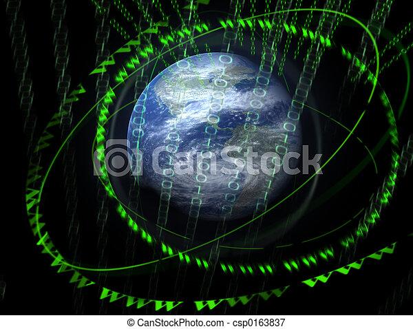 wereld, 3d, digitale  - csp0163837