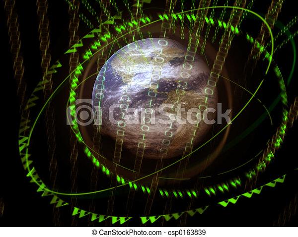 wereld, 3d, digitale  - csp0163839